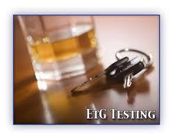 EtG alcohol drug testing using urine or har