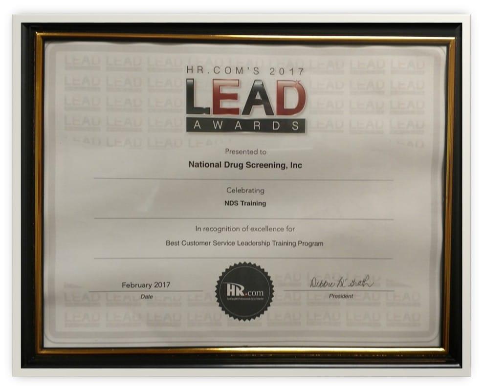 2017 Award Best Customer Service Leadership Program