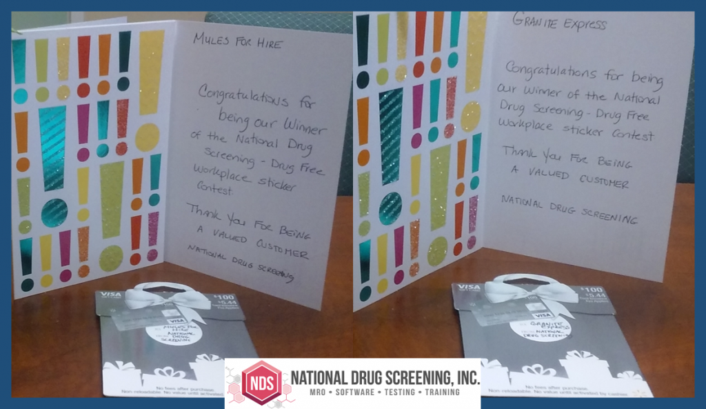 NDS Drug Free Workplace Sticker Contest