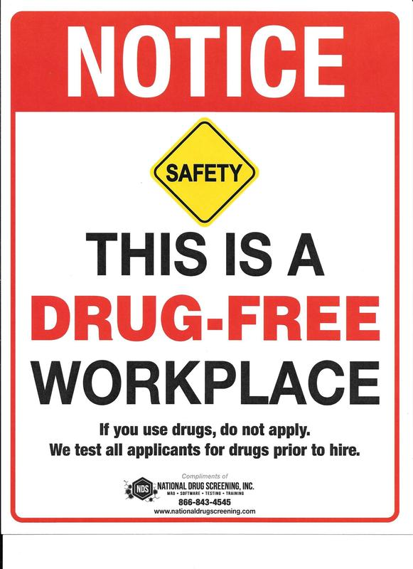 Is Your Workplace Drug Free?