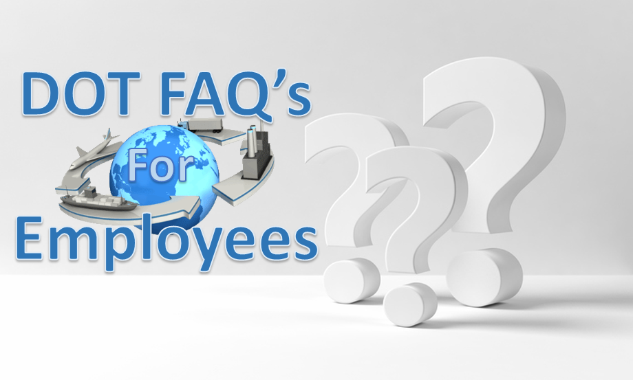 DOT Drug Screening FAQ's For Employees