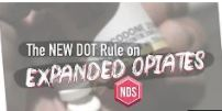 Video Blog - New DOT Rule on Expanded Opiates 4 Minutes