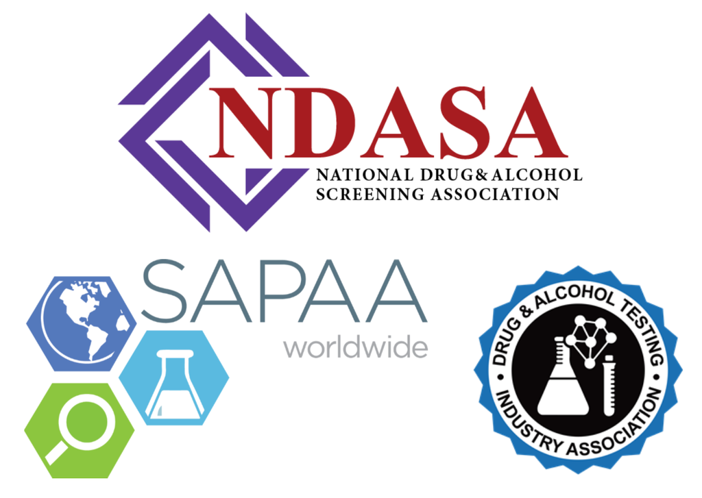 Logos of drug testing industry associations
