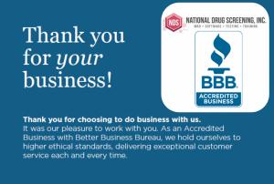 National Drug Screening, Inc. Earns BBB Accreditation