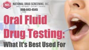 Oral Fluid Drug Testing for Post-Accident & Reasonable Suspicion