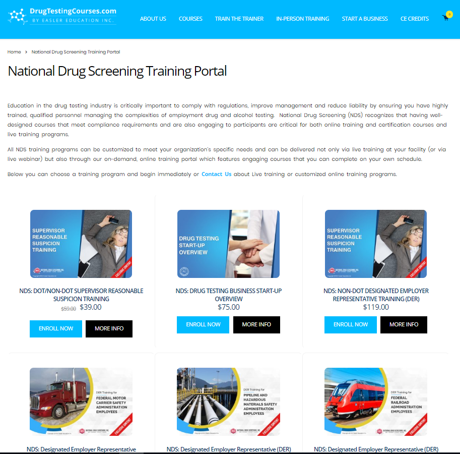 NDS Announces New Computer-based Online Training Portal