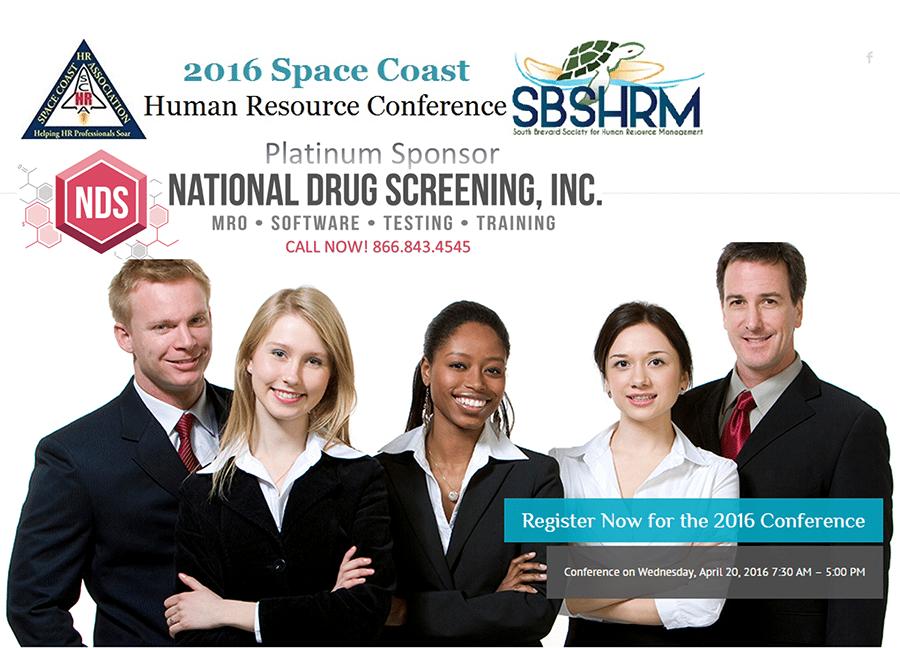 National Drug Screening to Sponsor 2016 Space Coast HR Conference