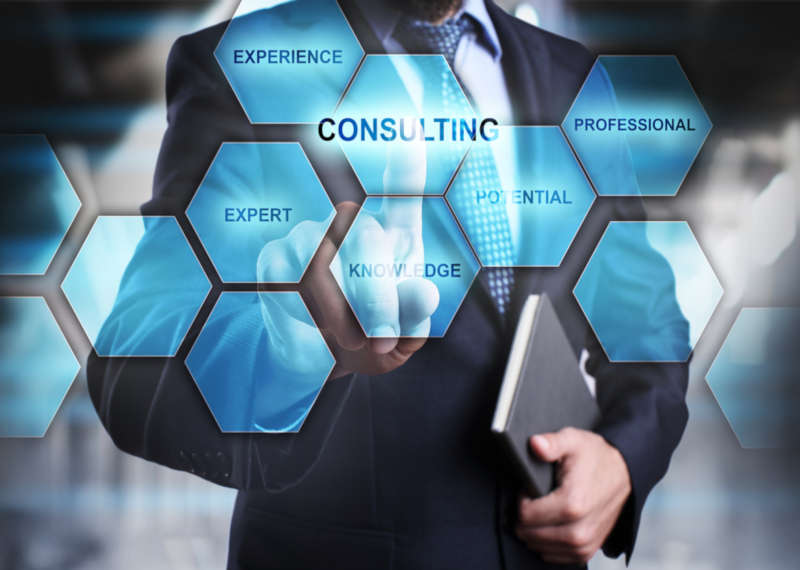 diagram with words consulting, potential, professional, knowledge, expert, experience