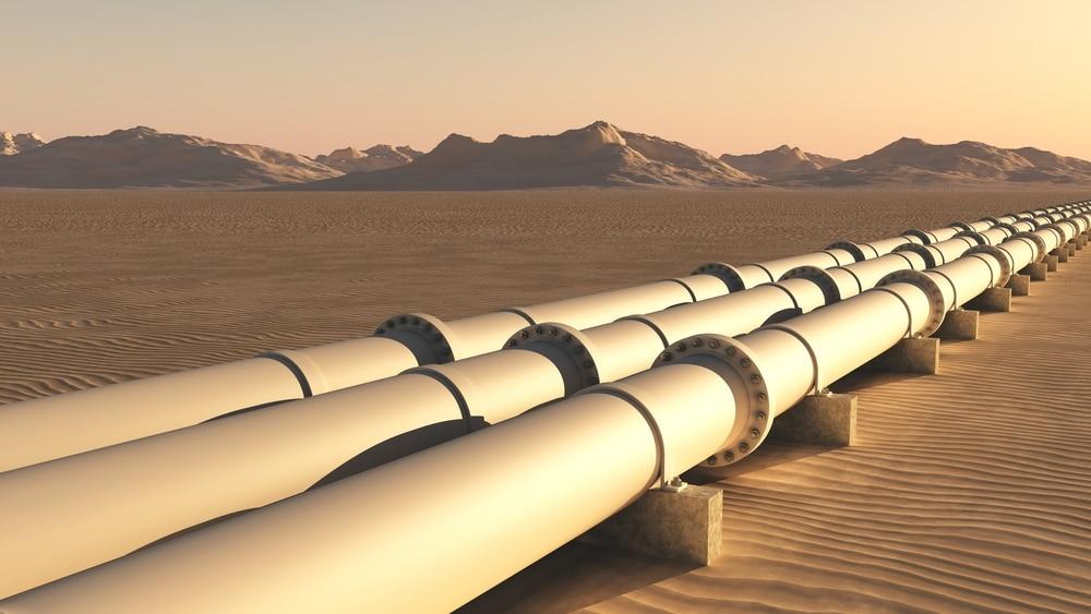 Oil pipelines in the desert