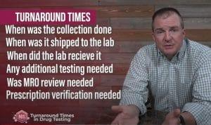 How long should drug test results take