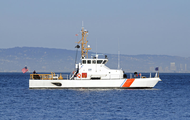 US Coast Guard boat on the water