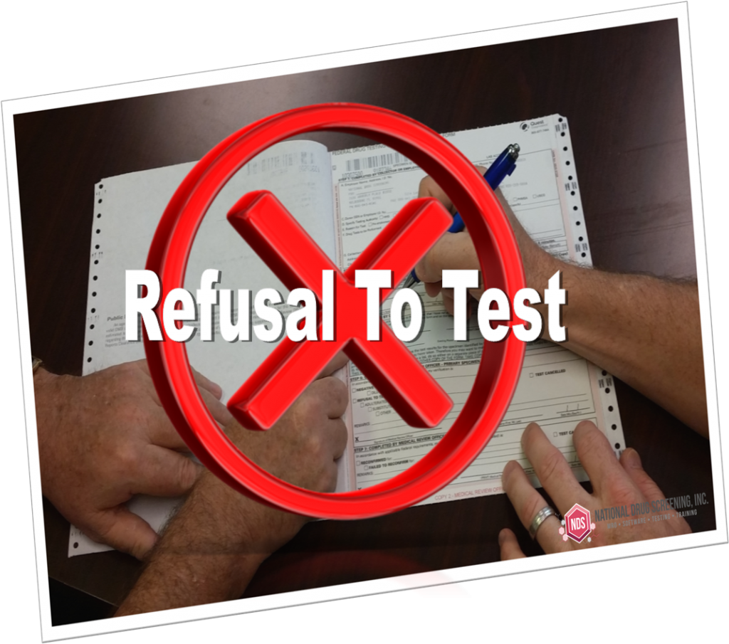 Who determines refusal to test
