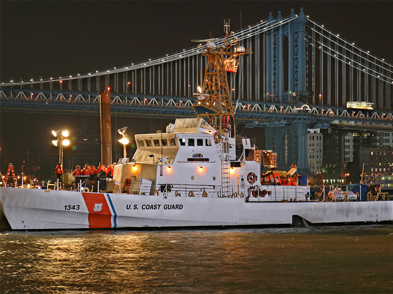 US Coast Guard Ship in Harbor