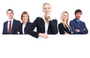 business people on a white background